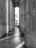 Vista di Washington Monument e di U S capitol immagine stock