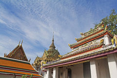 Vista di Wat Pho, Bangkok, Tailandia. Immagine Stock
