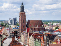Vista di Wroclaw Fotografia Stock