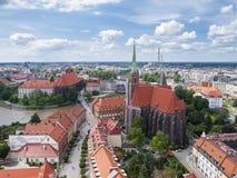 Vista di Wroclaw Fotografie Stock Libere da Diritti
