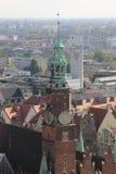 Vista di Wroclaw, Polonia Fotografia Stock Libera da Diritti