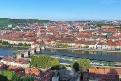 Vista di Wurzburg, Germania Fotografia Stock Libera da Diritti