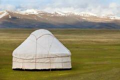 Vista di yurt asiatico nazionale Fotografia Stock Libera da Diritti