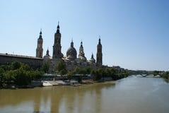 Vista di Zaragoza (Spagna) Fotografie Stock