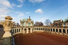 Vista di Zwinger, Dresda Fotografia Stock
