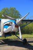 Vista dianteira de aviões da turboélice Foto de Stock Royalty Free