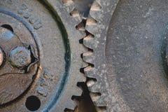Vista dianteira de duas engrenagens Foto de Stock