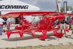 Vista dianteira de um avião vermelho de Oracle Imagem de Stock Royalty Free