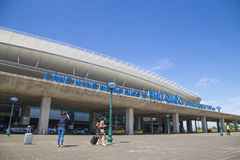 Vista dianteira do aeroporto internacional de Phu Quoc Foto de Stock Royalty Free