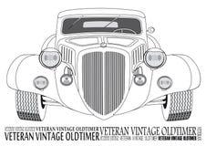 A vista dianteira do carro do vintage Imagem de Stock