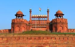 Vista dianteira do forte vermelho, Nova Deli Foto de Stock