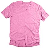 Vista dianteira do t-shirt cor-de-rosa no fundo branco Foto de Stock Royalty Free