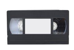 Vista dianteira do video tape do VHS com etiqueta foto de stock