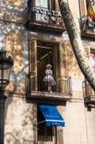 Vista dianteira Hostal no verão 2014 da cidade de Barcelona fotografia de stock royalty free