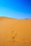 Vista dichosa de las dunas de arena Fotos de archivo