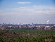 Vista distante del horizonte de Berlín Foto de archivo libre de regalías