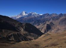 Vista distante del supporto Dhaulagiri Fotografia Stock Libera da Diritti