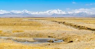 Vista distante del supporto Everest Fotografie Stock Libere da Diritti