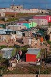 Bidonville africana Fotografia Stock