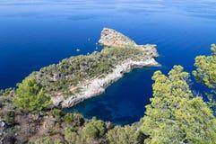 Vista distante em Sa Foradada Foto de Stock Royalty Free