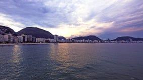 Vista distante sulla spiaggia di Copacabana Immagine Stock Libera da Diritti