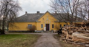 Vista distric di area dell'Estonia Tallinn Kopli fotografie stock libere da diritti