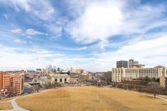 Vista diurna de Kansas City fotos de archivo