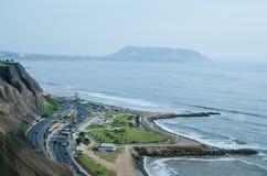 Vista do ³ n de Miraflores de Malecà imagens de stock