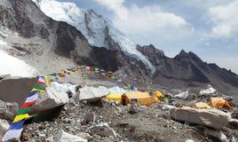Vista do acampamento base de Monte Everest Imagem de Stock