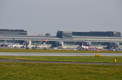Vista do aeroporto de Okecie em Varsóvia Imagem de Stock