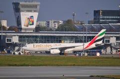 Vista do aeroporto de Okecie em Varsóvia Fotografia de Stock