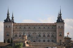 Vista do Alcazar em Toledo, Espanha Fotografia de Stock
