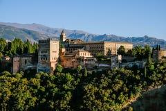 Vista do Alhambra em Granada, Espanha Fotos de Stock Royalty Free