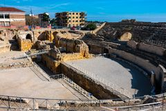 Vista do anfiteatro de Tarragona imagem de stock