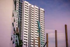 Vista do apartamento residencial do alojamento com o canteiro de obras em Bukit Panjang Imagem de Stock