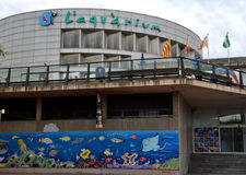 Vista do aquário em Barcelona, Espanha Fotos de Stock Royalty Free