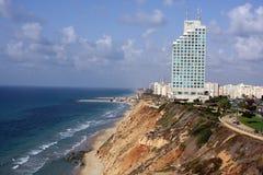 Vista do ar a uma praia Fotos de Stock Royalty Free