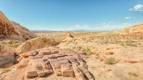 Vista do arco-íris, vale do parque estadual do fogo, nanovolt fotografia de stock