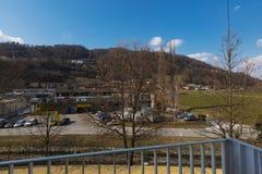 Vista do balcão de um apartamento imagens de stock royalty free