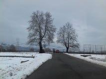 Vista do bandipora de conexão da estrada com sopore, baramulla, srinagar fotografia de stock royalty free