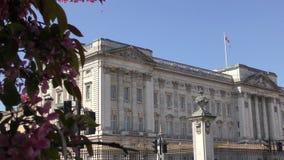 Vista do Buckingham Palace video estoque