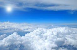 Vista do céu foto de stock