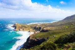 Vista do cabo da boa esperança África do Sul fotos de stock royalty free