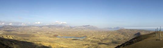 Vista do cabo Meganom (Crimeia, Ucrânia) Imagens de Stock Royalty Free
