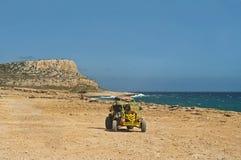 Vista do carrinho e da montanha de duna Foto de Stock