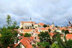 Vista do castelo complexo e uma parte de checo a Imagem de Stock