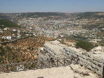 Vista do castelo de Ajloun Imagens de Stock Royalty Free