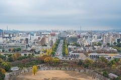 Vista do castelo de Himeji Imagens de Stock Royalty Free
