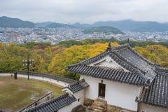 Vista do castelo de Himeji Foto de Stock