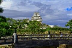Vista do castelo de Himeji, Japão Patrimônio mundial do UNESCO e tesouro nacional fotografia de stock royalty free